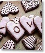 Heart Cookies Metal Print