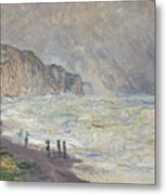 Heavy Sea At Pourville Metal Print
