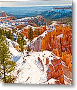 High Angle View Of Rock Formations Metal Print