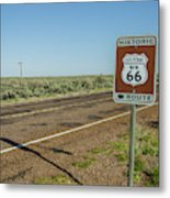 Historic Old Route 66 Passed Metal Print