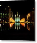 Historic Temple And Square In Salt Lake Metal Print