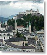 Hohensalzburg Castle In Salzburg Austria Metal Print