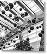 Holiday Glass Ornament Decorations At The Aria Resort And Casino Metal Print