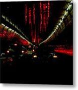 Holland Tunnel Lights Metal Print