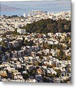 Homes Of San Francisco Metal Print