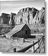Horse Barn In Fruita Utah Metal Print