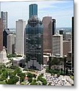 Houston Skyline Metal Print