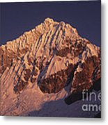 Mt Huandoy Sunrise Peru Metal Print