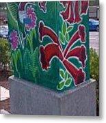 Hummingbird Traffic Signal Box Metal Print