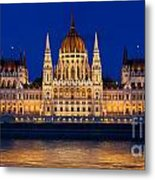 Hungarian Parliament In Budapest Metal Print