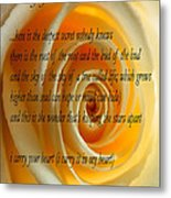 I Carry Your Heart With Me... Metal Print