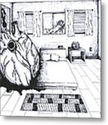 I Forgot My Heart In Your Room Metal Print