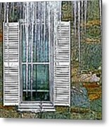 Ice By The Window Metal Print