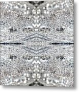 Ice Storm Abstract Metal Print