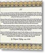 If By Rudyard Kipling Metal Print