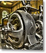 In The Ship-lift Engine Room Metal Print by Heiko Koehrer-Wagner