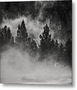In The Steam Metal Print