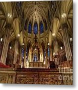 Inside St Patricks Cathedral New York City Metal Print