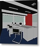 Interior Office Rooms Metal Print