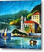 Italy Lake Como Villa Balbianello Metal Print