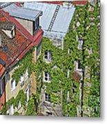 Ivy Courtyard Metal Print