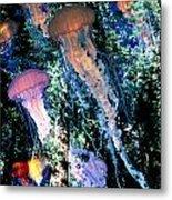 Jellyfish Forest Metal Print