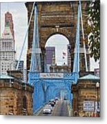 John Roebling Bridge 1867 Metal Print