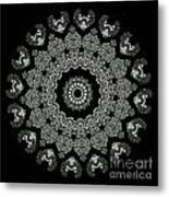 Kaleidoscope Ernst Haeckl Sea Life Series Black And White Set 2 Metal Print by Amy Cicconi
