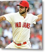 Kansas City Royals V Cleveland Indians Metal Print