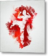 Karate Fighter Metal Print