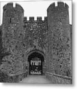 Keys To The Castle - Black And White Metal Print