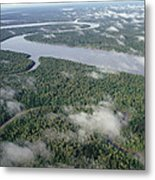 Kikori River In The Rainforest Kikori Metal Print