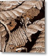 Knotted Metal Print