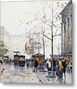 La Madeleine Paris Metal Print by Eugene Galien-Laloue