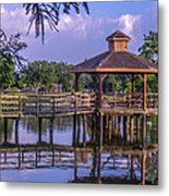 Lafreniere Gazebo Metal Print by Renee Barnes