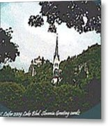 Lake Bled.slovenia.greeting Card Metal Print