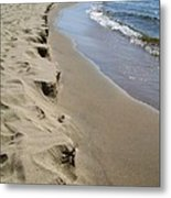 Lake Michigan Shoreline Metal Print by Michelle Calkins