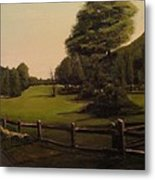 Landscape Of Duxbury Golf Course - Image Of Original Oil Painting Metal Print
