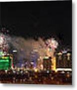Las Vegas Fireworks Metal Print
