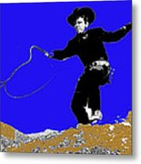 Lash Larue Bull Whip Publicity Photo Metal Print