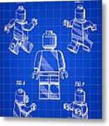 Lego Figure Patent 1979 - Blue Metal Print