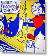 Lichtenstein's Look Mickey Metal Print