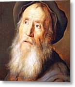 Lievens' Bearded Man With A Beret Metal Print