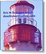Lighthouse At Cape May Metal Print