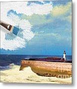 Lighthouse At Whitehaven Metal Print