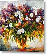 Lilac And Camomiles Metal Print