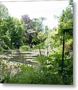Lily Pond In Monets Garden Metal Print