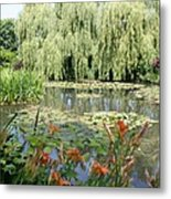 Lily Pond - Monets Garden Metal Print