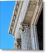 Lincoln County Courthouse Columns Looking Up 02 Metal Print