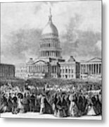 Lincoln Inauguration, 1865 Metal Print